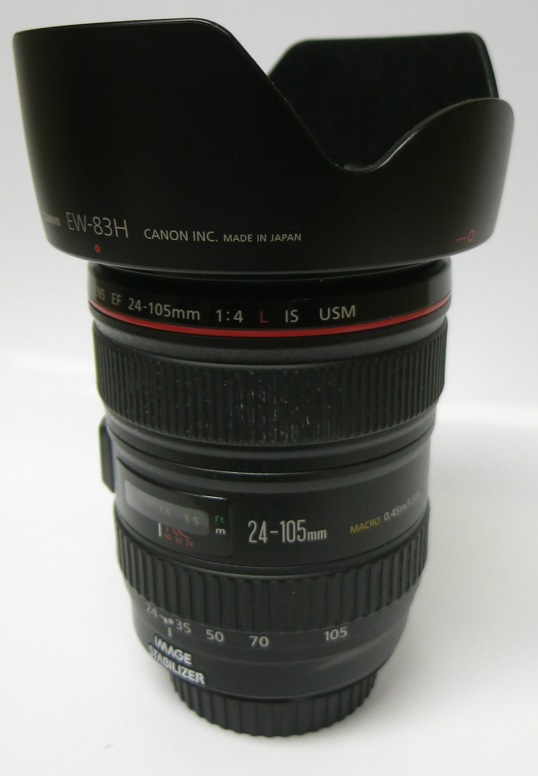 Canon Ef 24 105mm F 4 L Is Usm 1 4 Macro 0 45m 1 5ft Image